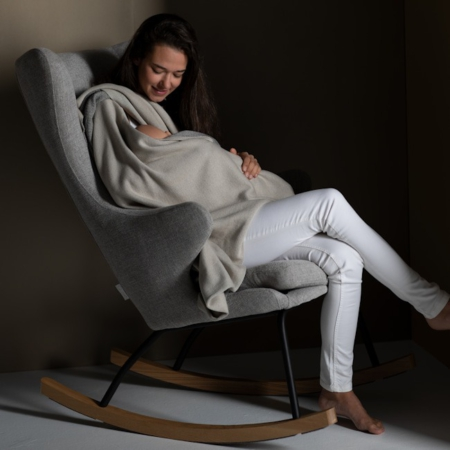 Rocking Adult Chair De Luxe Sand Grey sfeer