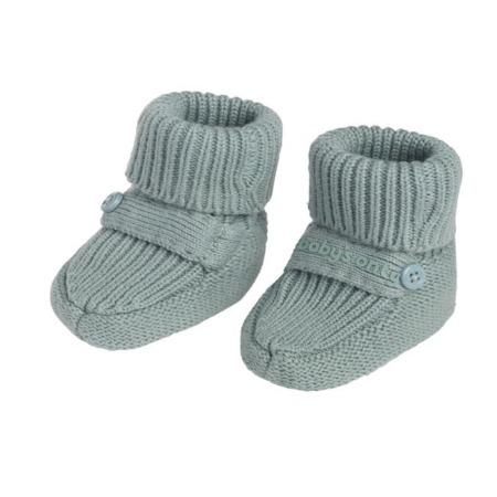 Baby's Only slofjes Newborn Knit stonegreen