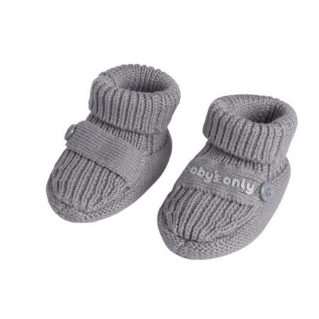 Baby's Only slofjes Newborn Knit grijs