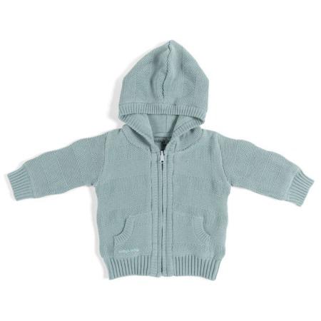 Baby's Only vestje met capuchon Streep Stonegreen