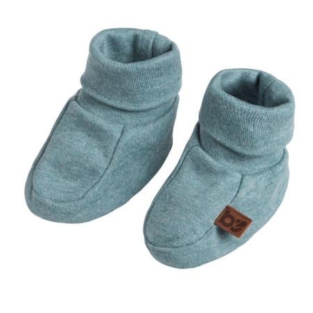Baby's Only slofjes Melange stonegreen