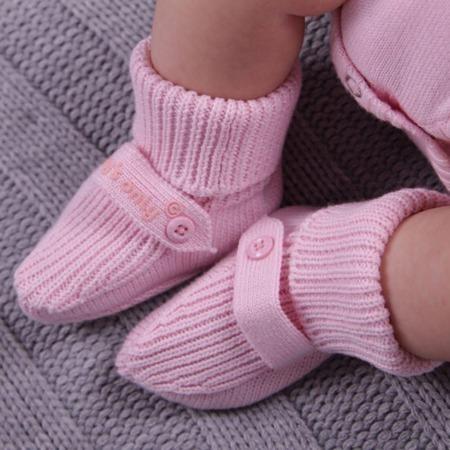 Baby's Only newborn gebreide slofjes baby roze