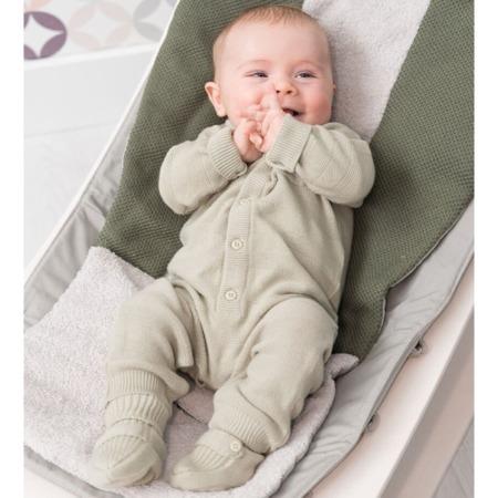 Baby's Only newborn gebreide slofjes olive