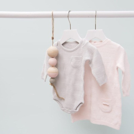 Baby's Only rompertje lange mouw Streep classic roze1