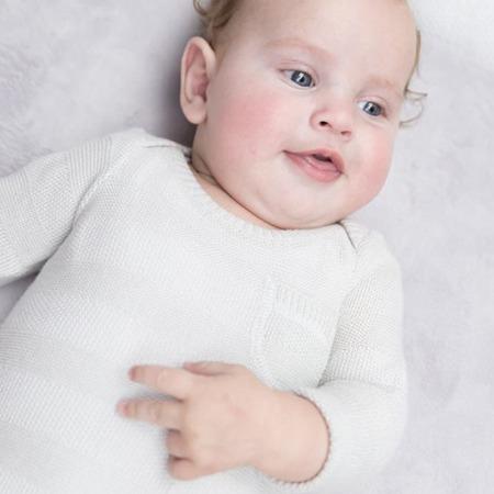 Baby's Only rompertje lange mouw Streep zilvergrijs1