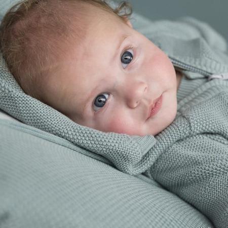 Baby's Only vestje met capuchon streep Stonegreen sfeer