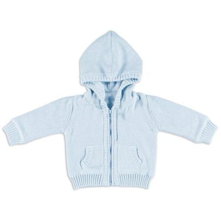 Baby's only vestje met capuchon Newborn babyblauw