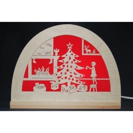 De Noest vrolijk kerstfeest silhouet