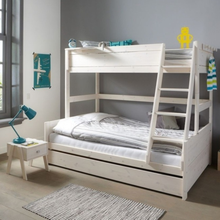 Lifetime stapelbed family whitewash sfeer