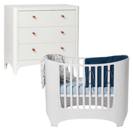 Leander 2 delige babykamer white
