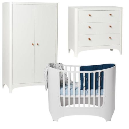 Leander 3 delige babykamer white