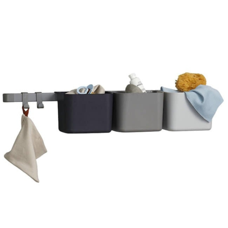 Leander 3 organizers rail Dusty Grey