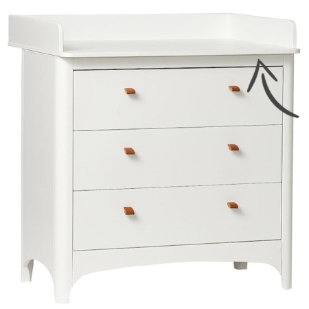 Leander Classic changing unit white
