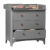 Leander Classic commode met changing unit grey