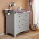 Leander Classic commode met changing unit grey sfeer