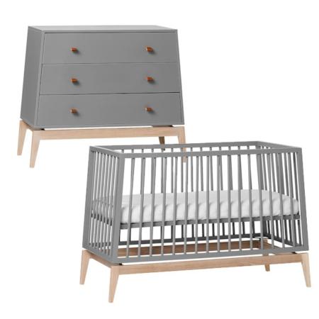 Leander Luna 2 delige babykamer grey