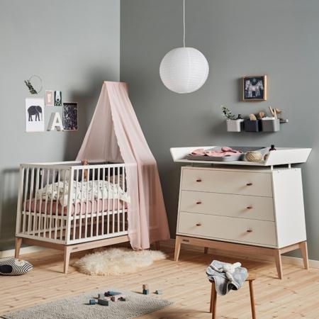 Leander Luna 2 delige babykamer white sfeer