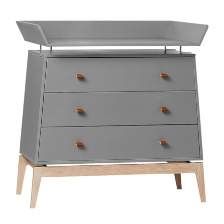 Leander Luna commode met changing unit grey