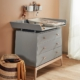Leander Luna commode met changing unit grey sfeer