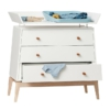 Leander Luna commode white met changing unit sfeer