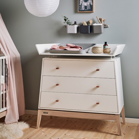 Leander Luna commode white met changing unit sfeer1
