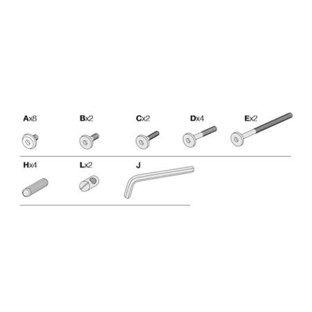 Leander schroevenset voor meegroeistoel 95-309116a