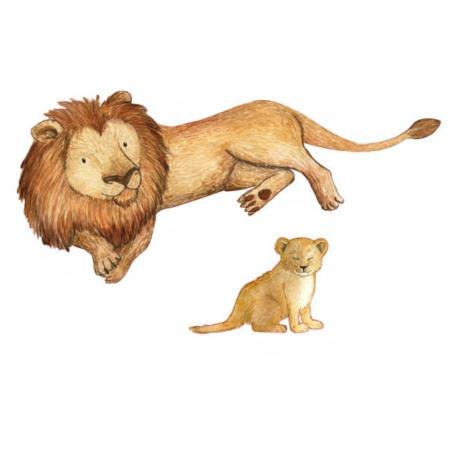 Hartendief muurstickers leeuw