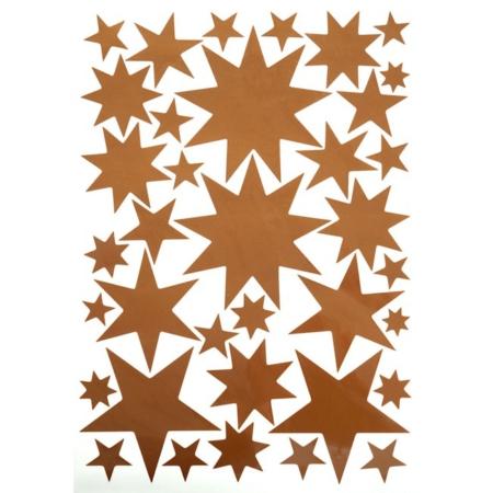 Hartendief muurstickers sterren koper