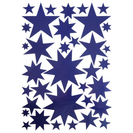 Hartendief muurstickers sterren nachtblauw