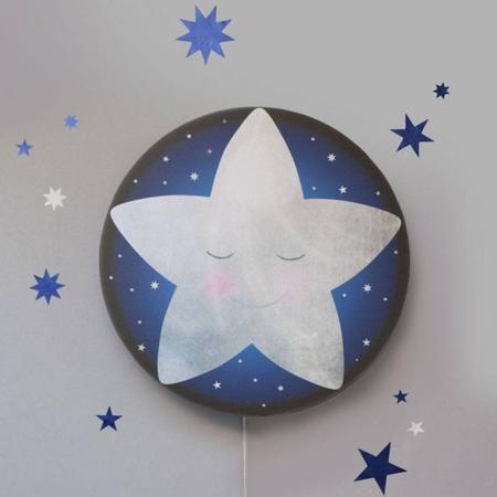 Hartendief muurstickers sterren nachtblauw1