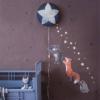 Hartendief muurstickers sterren nachtblauw2