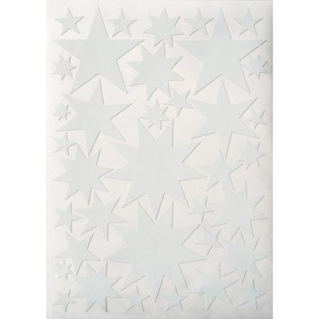 Hartendief muurstickers sterren wit