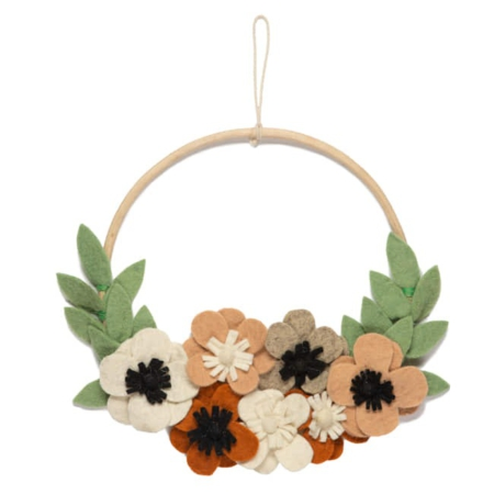 Kidsdepot muurhanger Flower Hoop flowers