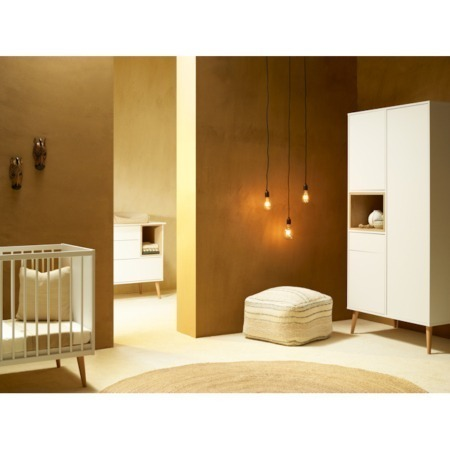 Quax Cocoon Ice White 3 delige babykamer sfeer