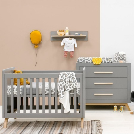 Bopita 2 delige babykamer Fenna grijs sfeer