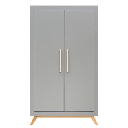 Bopita 2-deurskast Fenna grijs