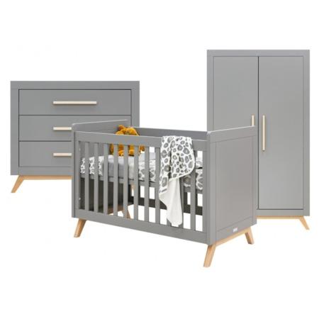 Bopita 3-delige babykamer Fenna grijs