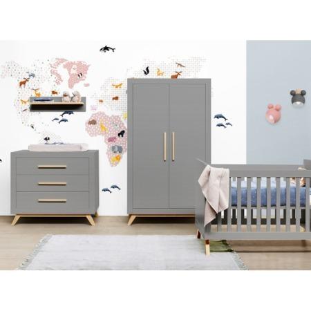 Bopita 3 delige babykamer Fenna grijs sfeer