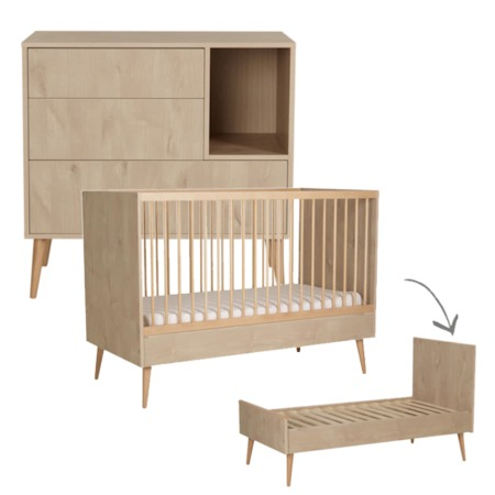 Quax 2 delige babykamer Cocoon Natural Oak 70x140