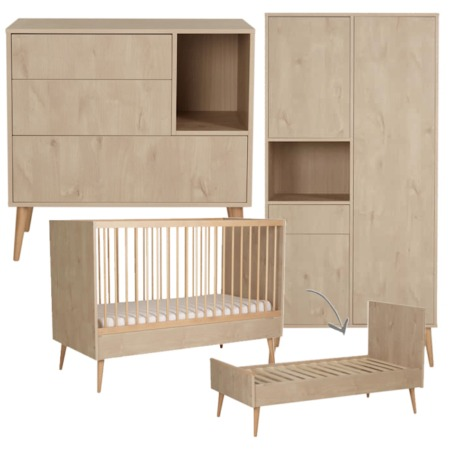 Quax 3 delige babykamer Cocoon Natural Oak 70x140