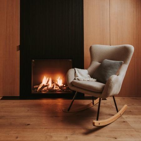 Quax schommelstoel Basic Desert sfeer