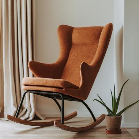Quax schommelstoel de luxe terra sfeer