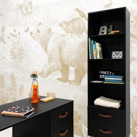 Bopita Floris boekenkast en bureau sfeer
