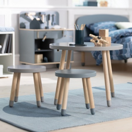 Flexa Dots speeltafel grey blue sfeer