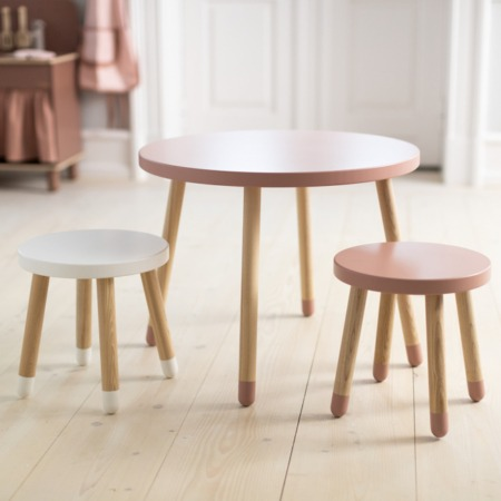 Flexa Dots speeltafel light rose set