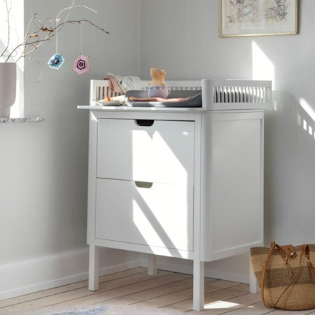 Sebra commode met 2 laden white sfeer