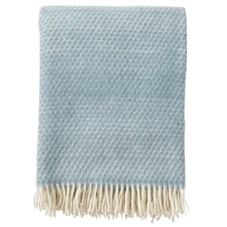 Klippan wollen plaid Fade Dusty Blue