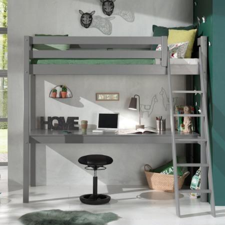 Pino Mezzanine hoogslaper met bureau grijs sfeer