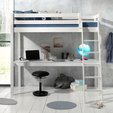 Pino Mezzanine hoogslaper met bureau wit sfeer