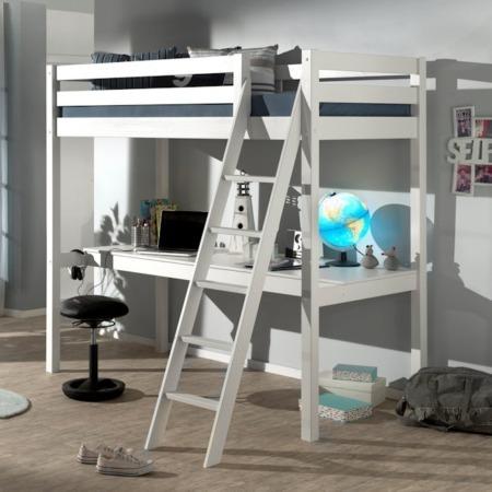 Pino Mezzanine hoogslaper met bureau wit sfeer1
